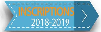 Inscriptions 2018 / 2019